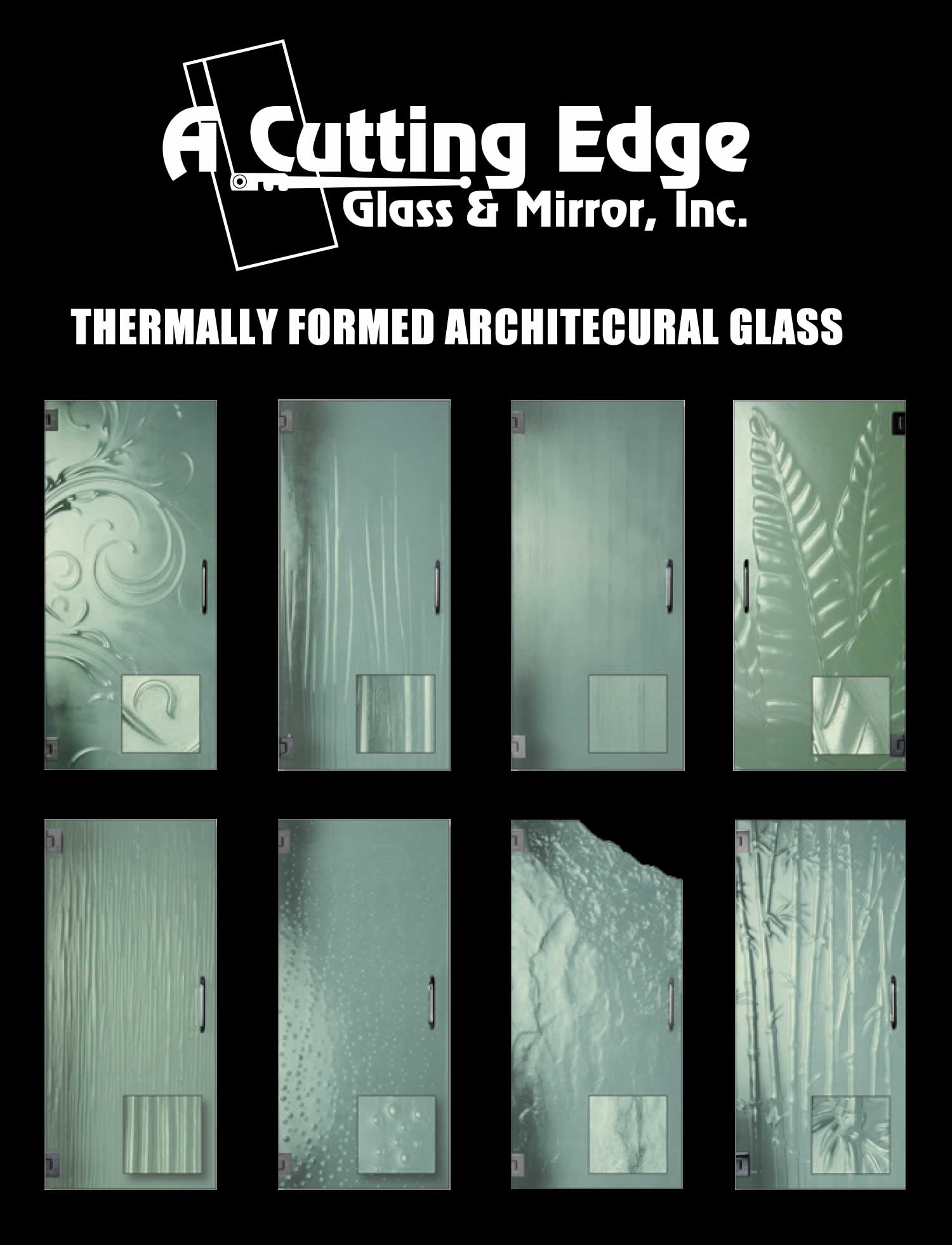 Thermally Formed Custom Glass Door Designs. Textured ...