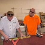 BJ Krummel (left)- Owner of A Cutting Edge Glass & Mirror of Las Vegas, Nevada