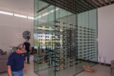 A Beautiful Wine Cellar Inside a Sunwest Custom Home