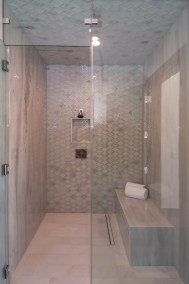 Exterior Custom Frameless Shower Door Enclosure