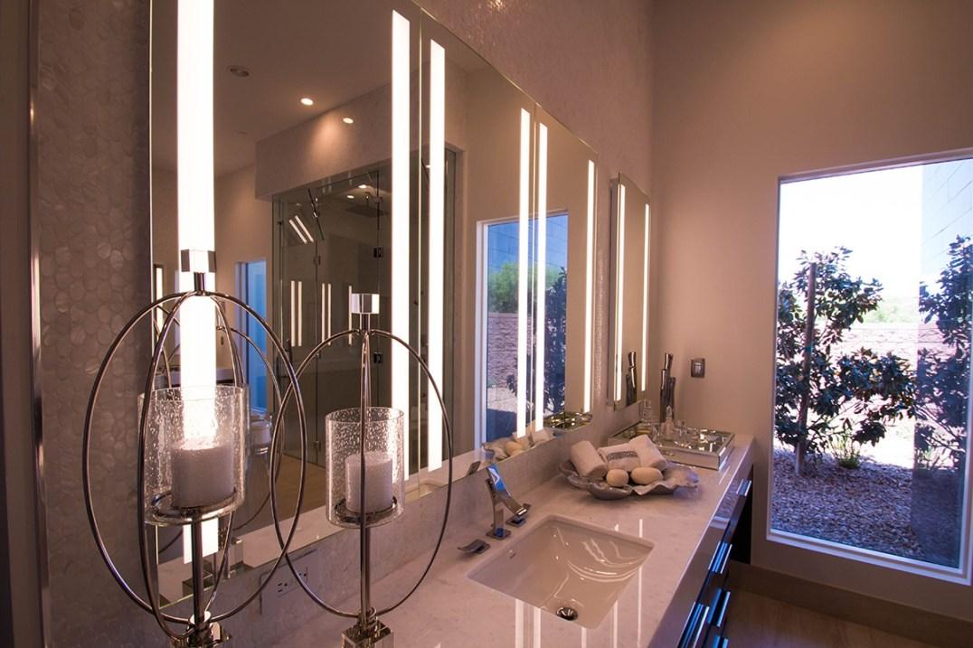 Left Side of Master Bathroom Mirrors
