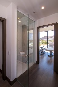 Side View Of Custom Glass Shower Door Enclosure