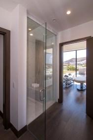Side View Of Custom Glass Shower Door Enclosure