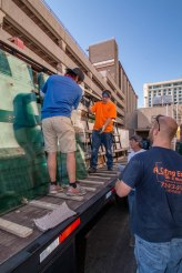 A Cutting Edge Glass & Mirror - Unloading Glass for California Hotel Project