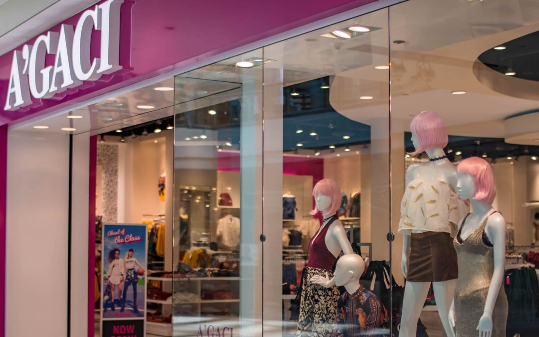 A'Gaci Clothing Store Storefront – Commercial Glass Storefront