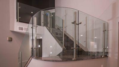 Custom Glass Stairway Railing - Custom Glass Las Vegas, Nevada
