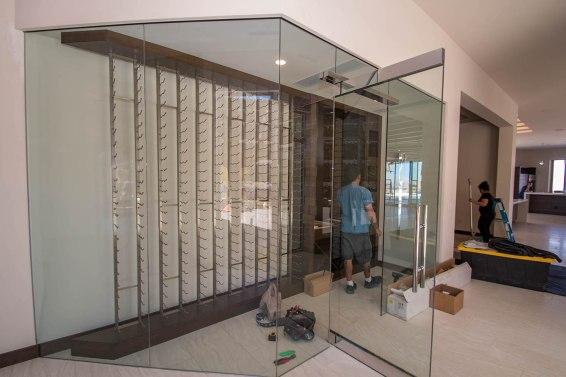 Custom Wine Room by A Cutting Edge Glass & Mirror