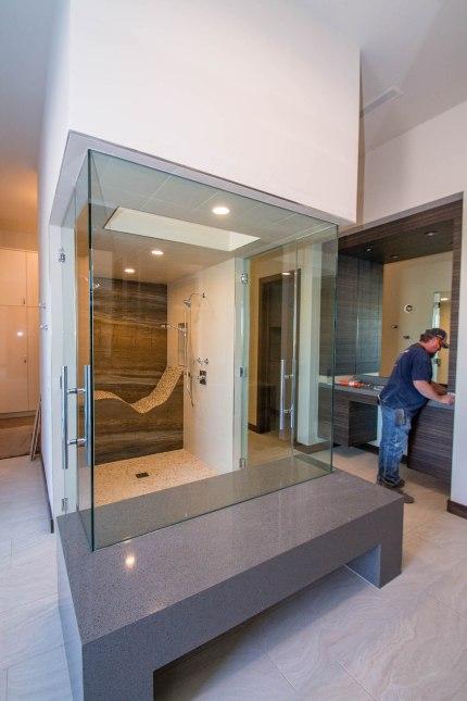 Double Walk-in Shower Door Enclosure System