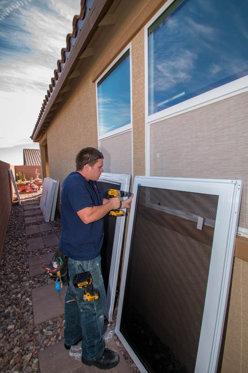 Preparing to Mount our Impact Resistant Security Products