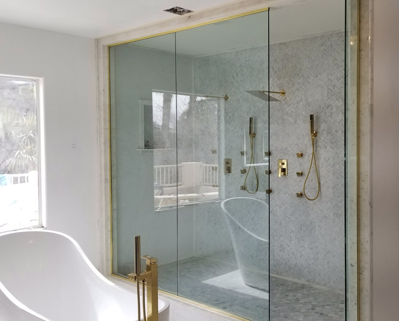 Frameless Glass Shower Doors A Cutting Edge Glass Mirror