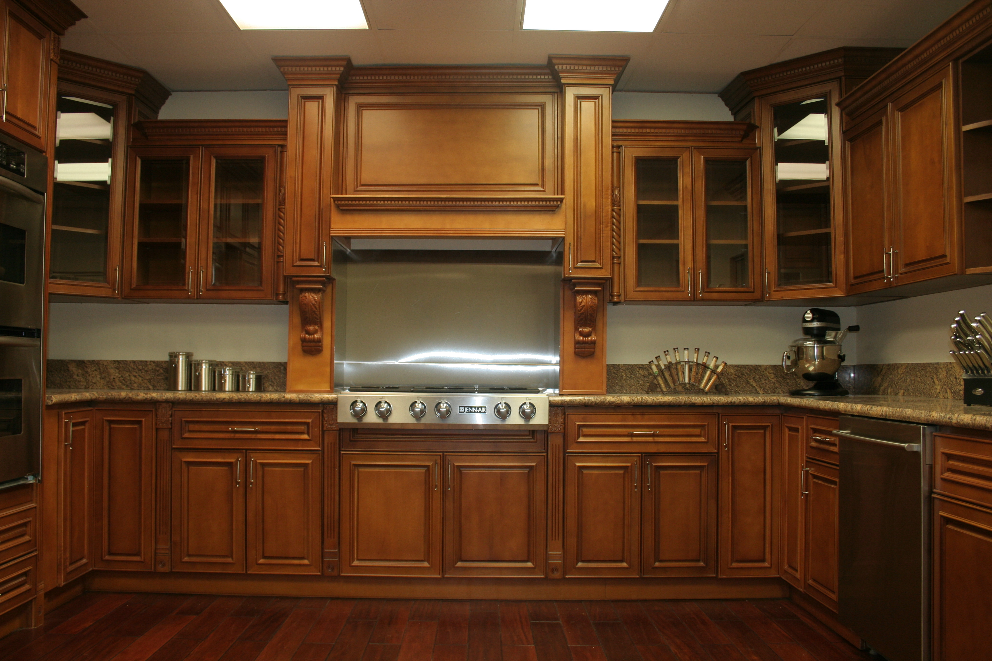 interior-ideas-deep-brown-wooden-maple-kitchen-cabinets ... on Kitchen Countertops With Maple Cabinets  id=69470