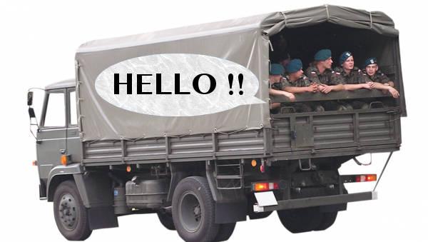 沖縄ではトラックにのってる米兵とじゃんけんをした