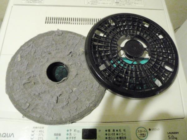 乾燥機フィルターにホコリがぎっしり詰まるとこうなる
