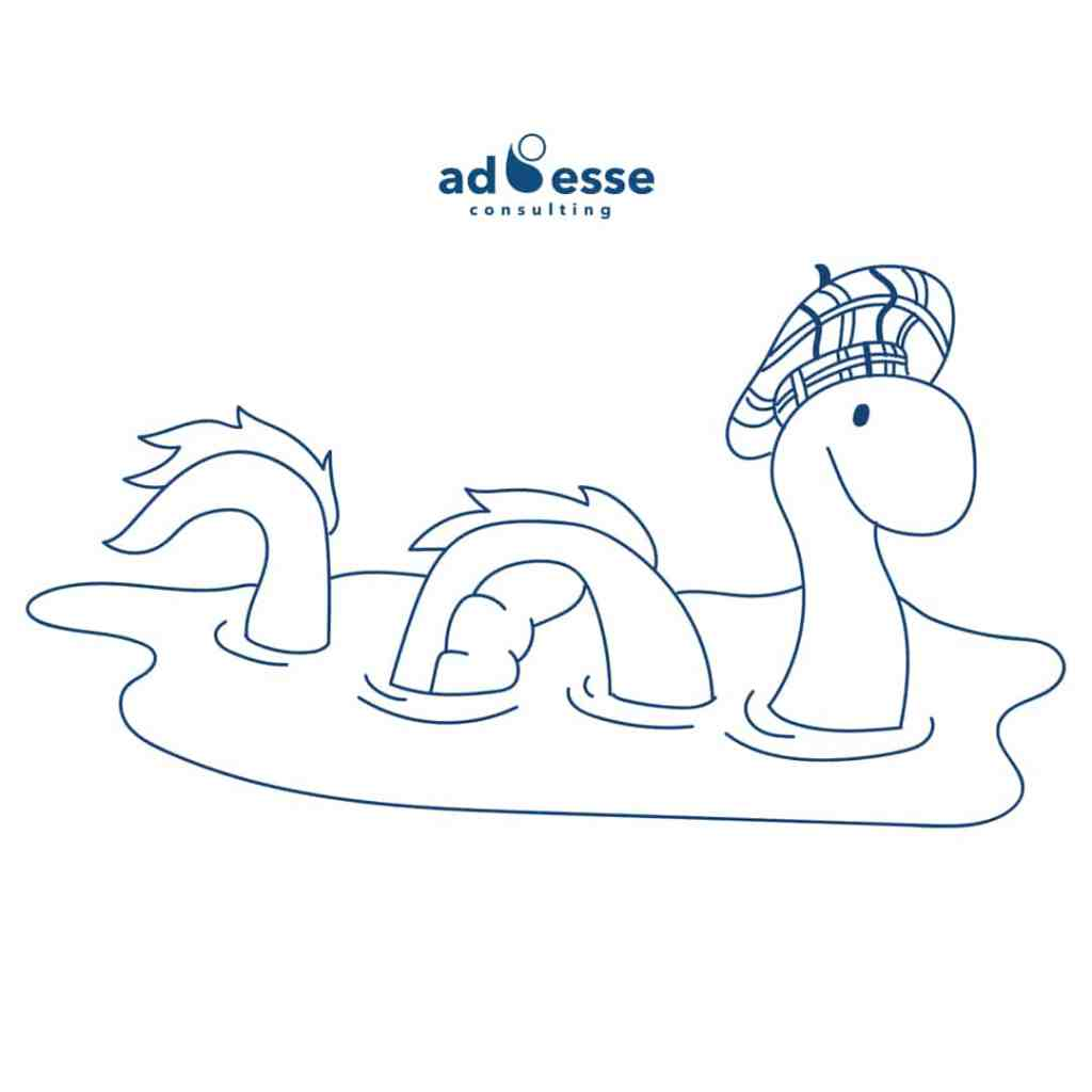 Ad Esse Consulting loch ness monster illustration