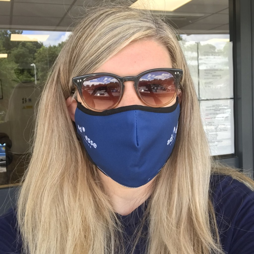 Ad Esse Consulting mask selfie by Rhiannon Gibbs, Director