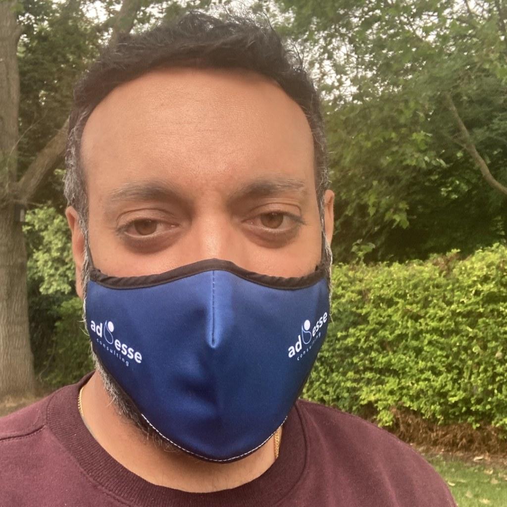 Ad Esse Consulting mask selfie by Gurdeep Gahir, Director