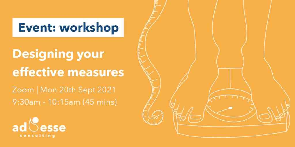 Designing you own effective measures with Ad Esse Consulting on the 20th of September 2021 2