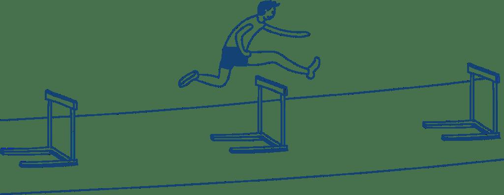 Ad Esse Consulting hurdle runner illustration