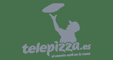 logos telepizza gris