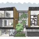 Townhouses with Private Courtyards / baan puripuri Sketch
