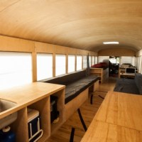 Student's Thesis Turns Bus Into Tiny House