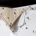 BIG Designs Pier 6 Viewing Platform for Brooklyn's Waterfront Model. Image Courtesy of BIG