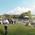 Plans Unveiled For Crystal Palace Rebuild Cafe view . Image © ZhongRong Group