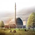 SADAR+VUGA Shares Second in Central Mosque of Pristina Competition Mandatory 1. Image © SADAR + VUGA