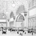 AD Classics: Pennsylvania Station / McKim, Mead & White Drawing of the main waiting room, published in the New York Times in 1906