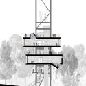 The Sustainability Treehouse  / Mithun Longitudinal Section