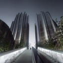 """MAD Breaks Ground on Proposal that Redefines Beijing's """"City Landscape"""" View towards Towers. Image © MAD"""