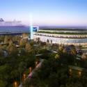 Arte Charpentier Architectes Unveils Plans for Calais Congress Centre Exterior landscape at night. Image © Arte Charpentier Architectes