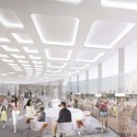 Arte Charpentier Architectes Unveils Plans for Calais Congress Centre Interior cafe. Image © Arte Charpentier Architectes