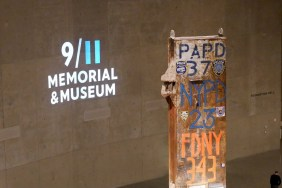 9-11+Memorial+Museum+Logo+reflected+on+wall