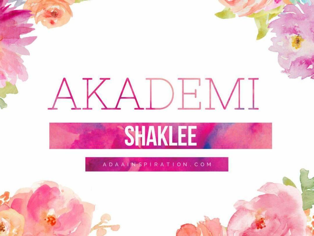 Akademi Shaklee 1