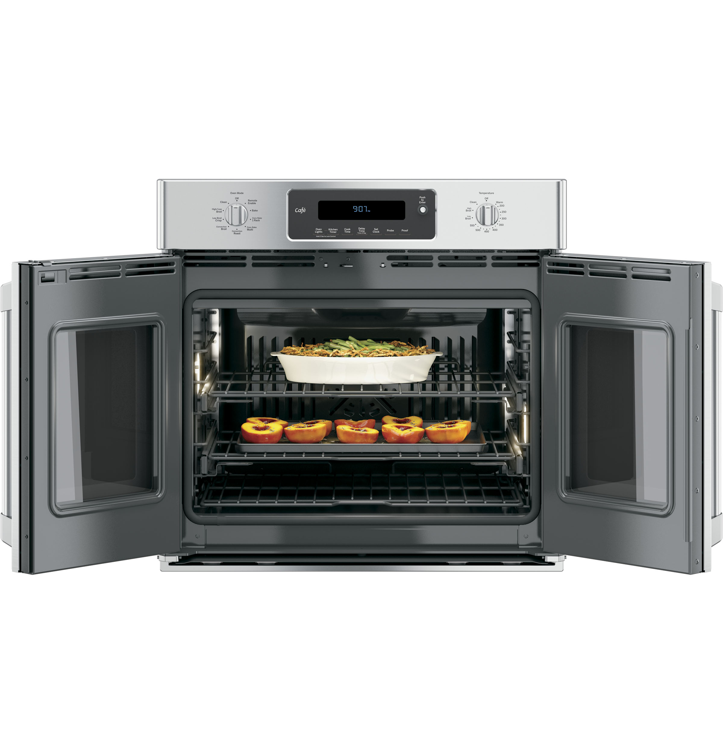 french door single convection wall oven