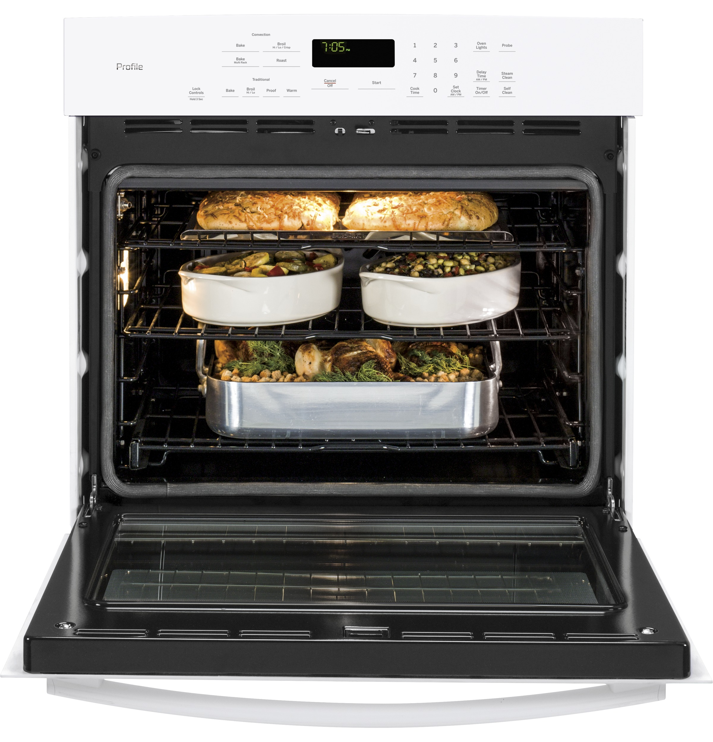 single convection wall oven pt7050dfww