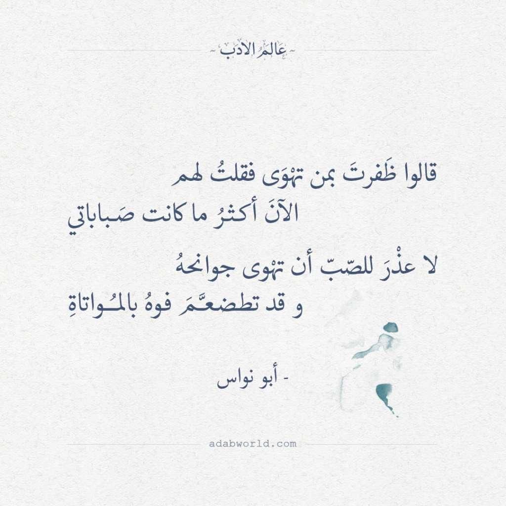 قالوا ظفرت بمن تهوى فقلت لهم - أبو نواس