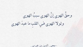 شعر محي الدين بن عربي - وحق الهوى