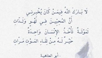 شعر أبو العتاهية - لا بارك الله فيمن كان يخبرني