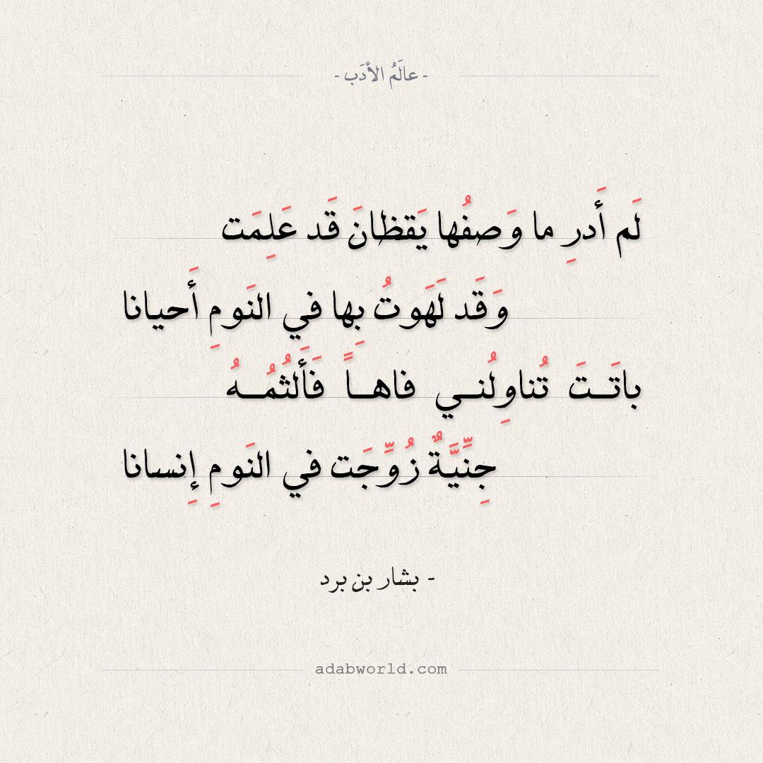 شعر بشار بن برد - لا تعذلوني فإني من تذكرِها