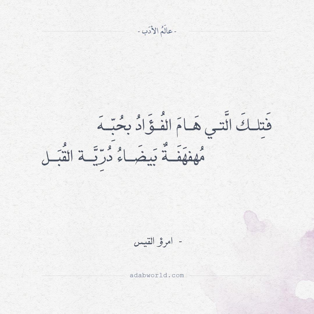 شعر امرؤ القيس - فتلك التي هام الفؤاد بحبها