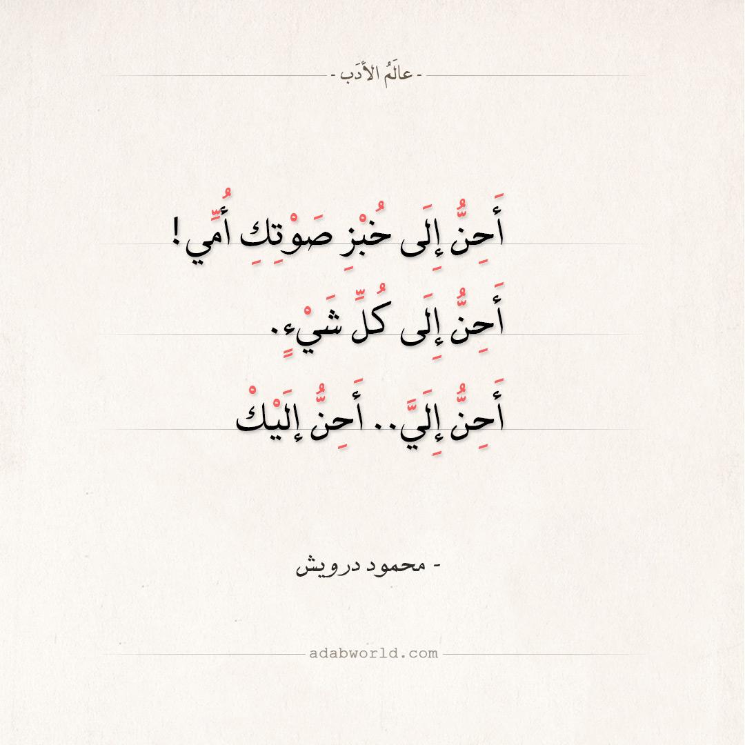 شعر محمود درويش - أحن إلى خبز صوتك أمي!
