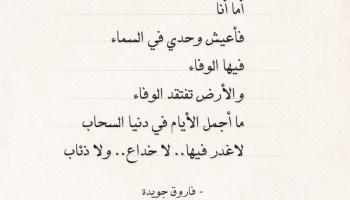 شعر فاروق جويدة - ما أجمل الأيام في دنيا السحاب