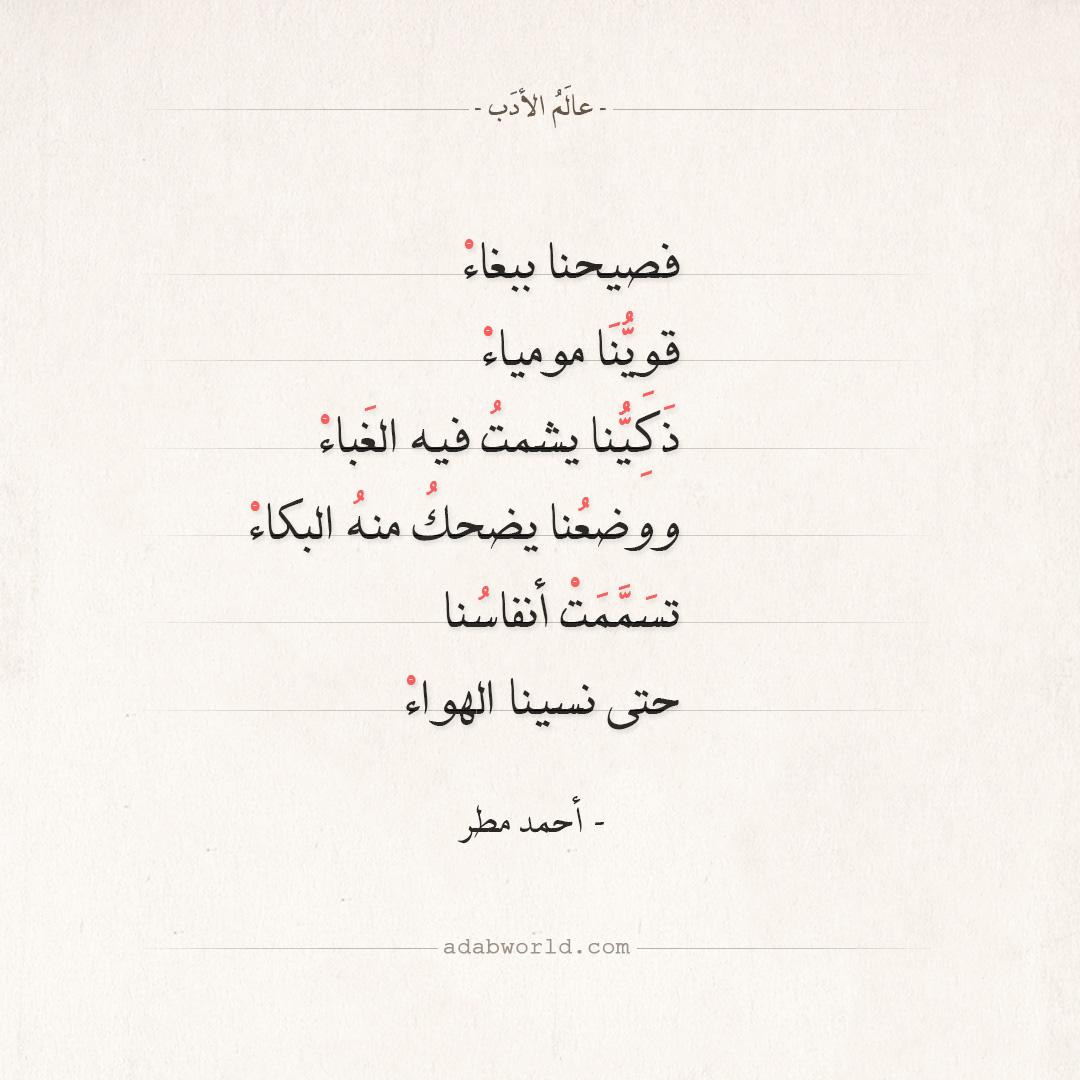 شعر أحمد مطر - فصيحنا ببغاء