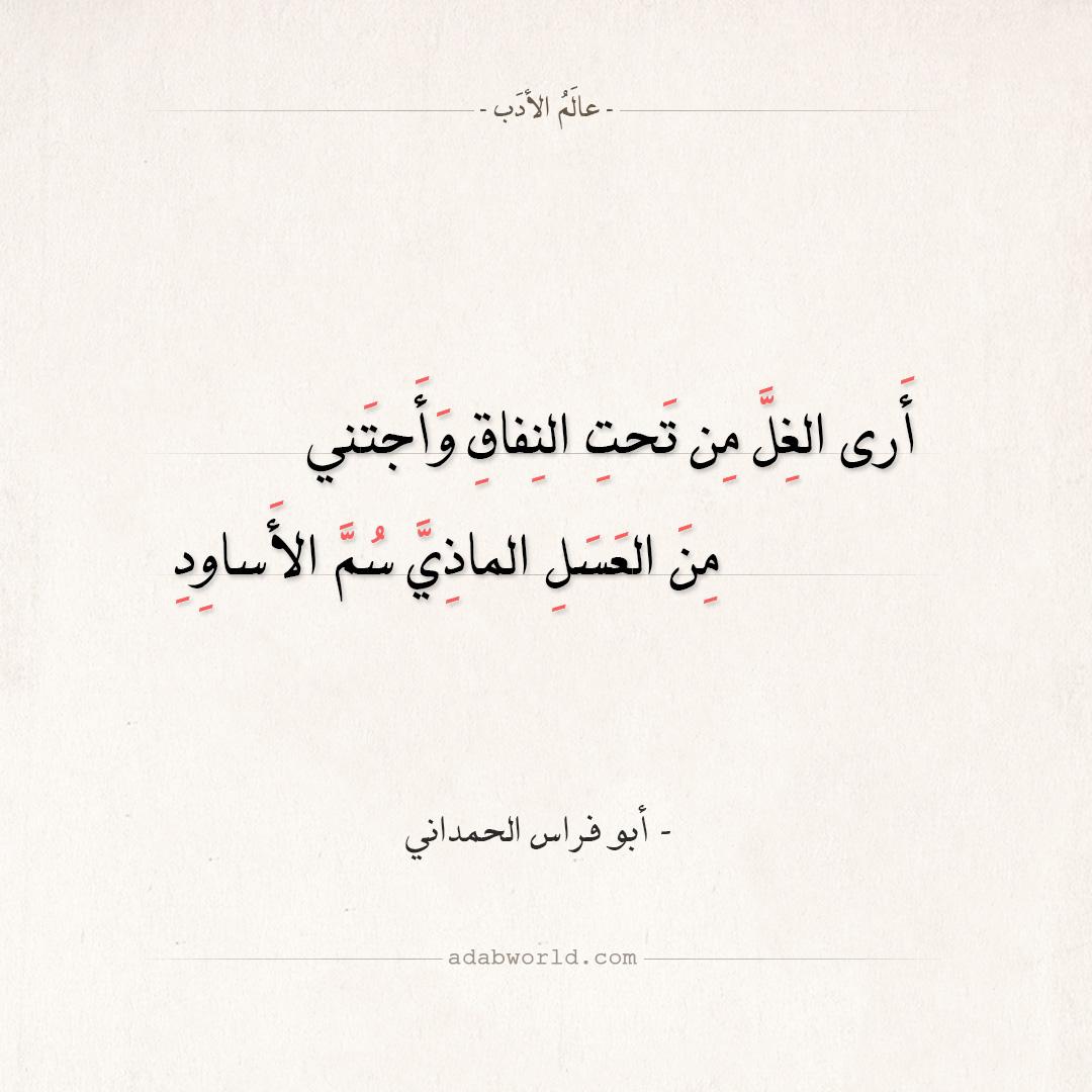 شعر أبو فراس الحمداني - أرى الغل من تحت النفاق وأجتني