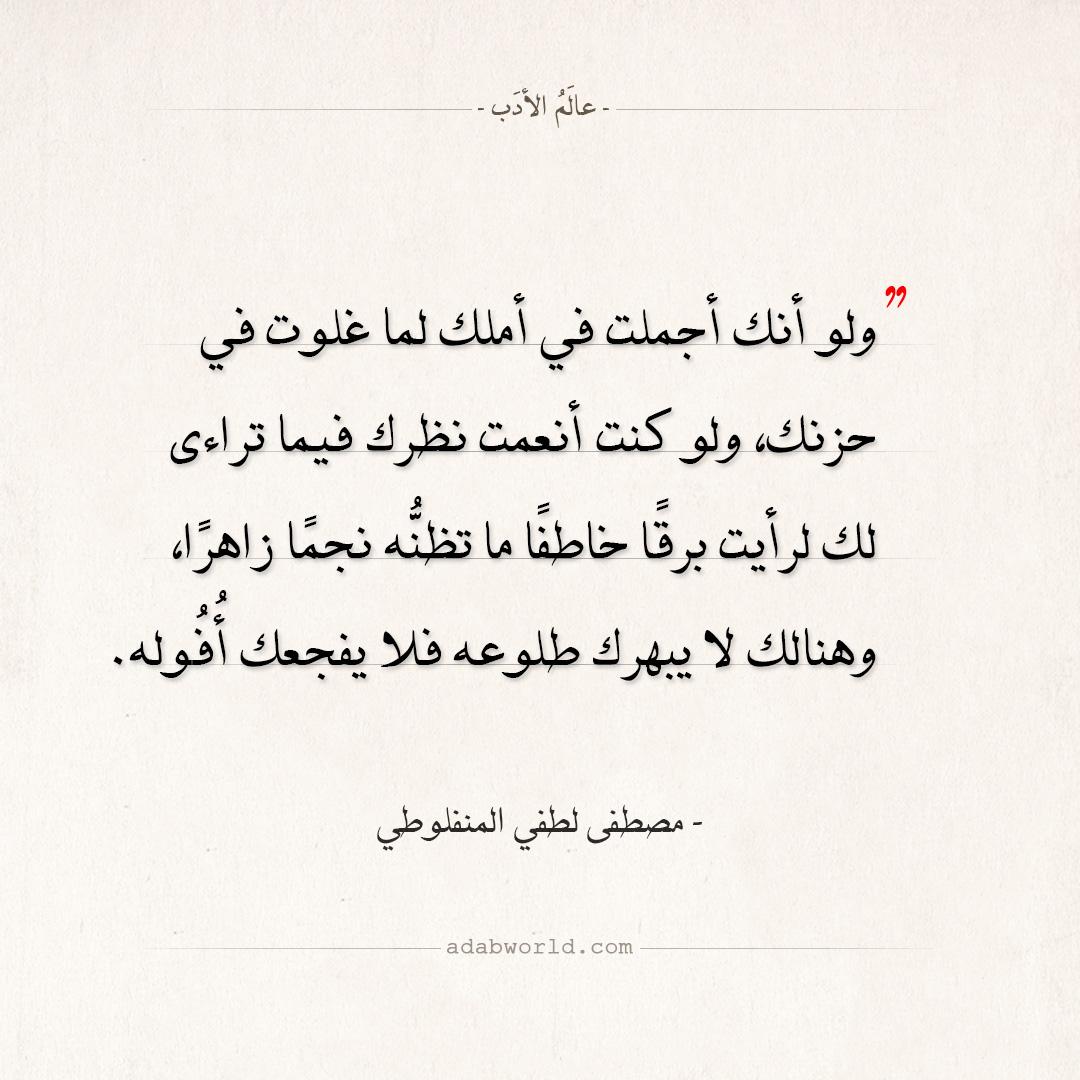 اقتباسات مصطفى لطفي المنفلوطي - أنت حزين