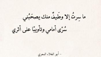 شعر أبو العلاء المعري - ما سرت إلا وطيف منك يصحبني