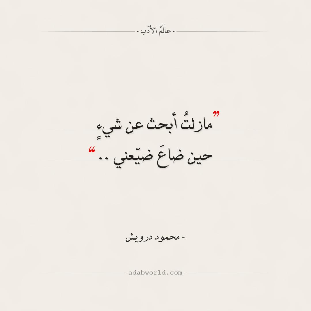 مازلتُ أبحث عن شيءٍ - محمود درويش