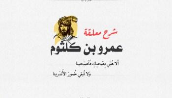 شرح معلقة عمرو بن كلثوم - ألا هبي بصحنك فاصبحينا